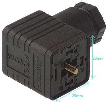 12B GDM - Hirschmann Forma A DIN 43650 connector